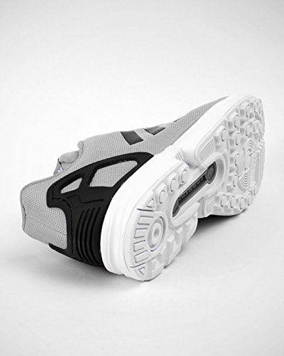 adidas Zx Flux J, Unisex-Kinder Jungen Sneakers , Mehrfarbig - grau / wei