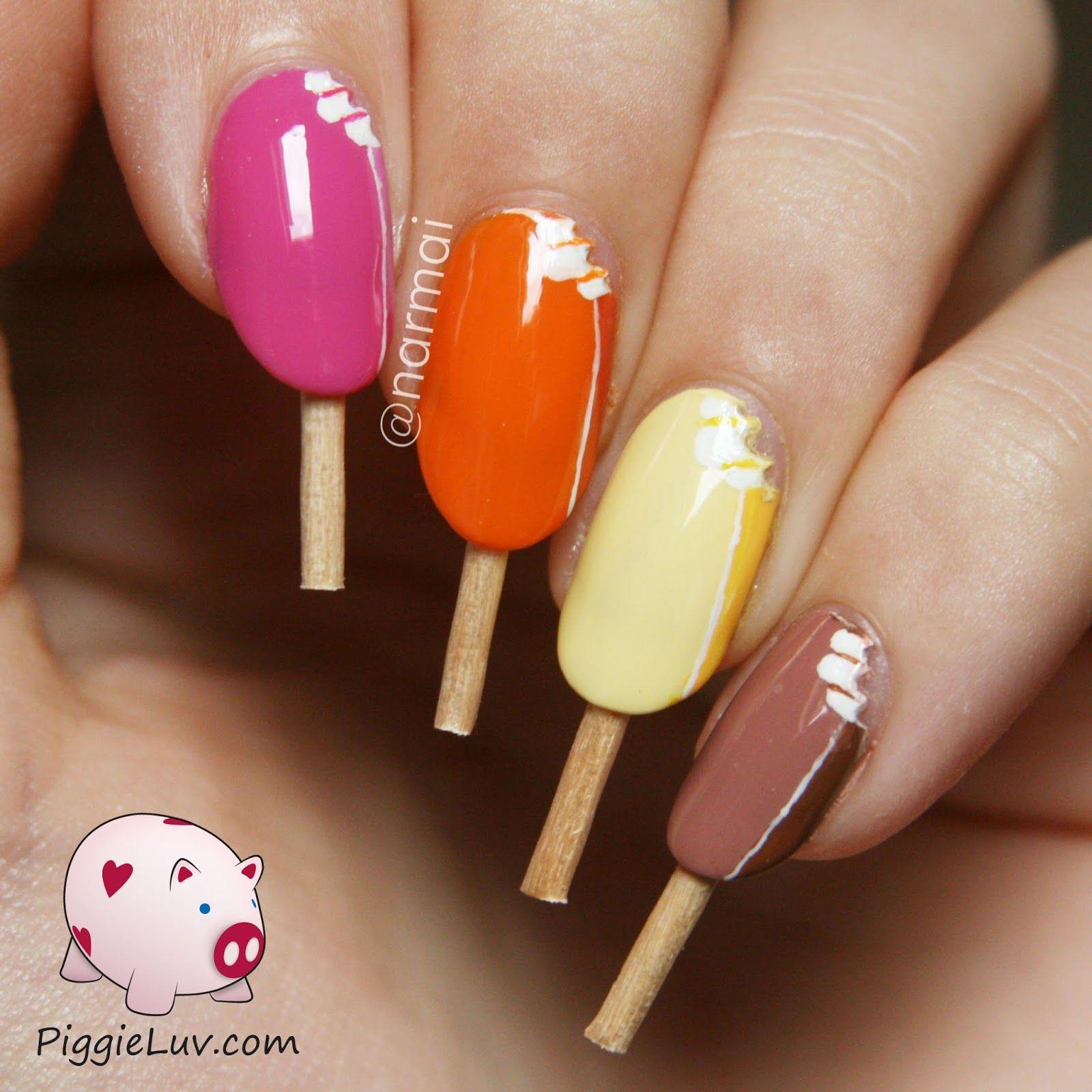 Magnum ice cream nail art with video tutorial!   Ice cream nails ...