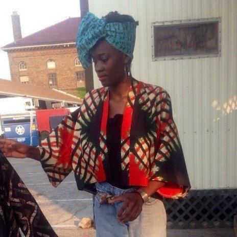 Print africaine Cropped Kimono par THELITTLEBLACKBAG sur Etsy