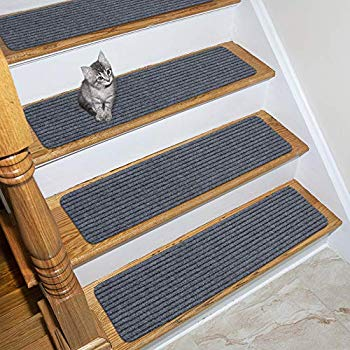 Stair Treads Collection Indoor Skid Slip Resistant Carpet Stair | 7 Inch Carpet Stair Treads | Indoor Outdoor | Non Slip | Slip Resistant | Rug Styles | Tread Covers