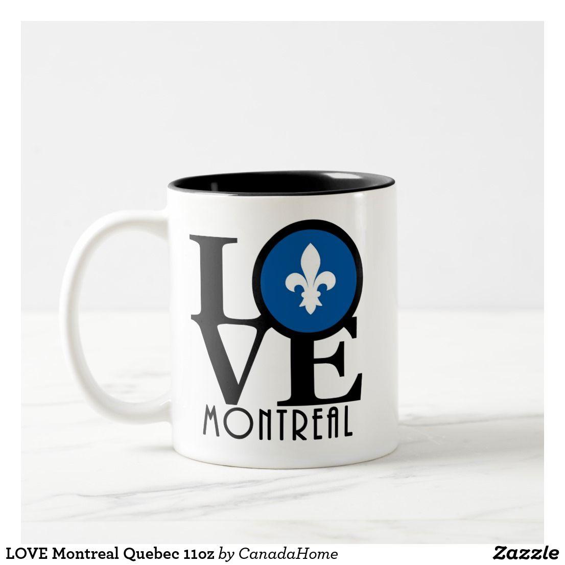 Love Montreal Quebec 11oz Two Tone Coffee Mug Zazzle Com Mugs Coffee Mugs Custom Holiday Card