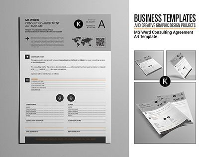Check out new work on my @Behance portfolio \ - agreement in word