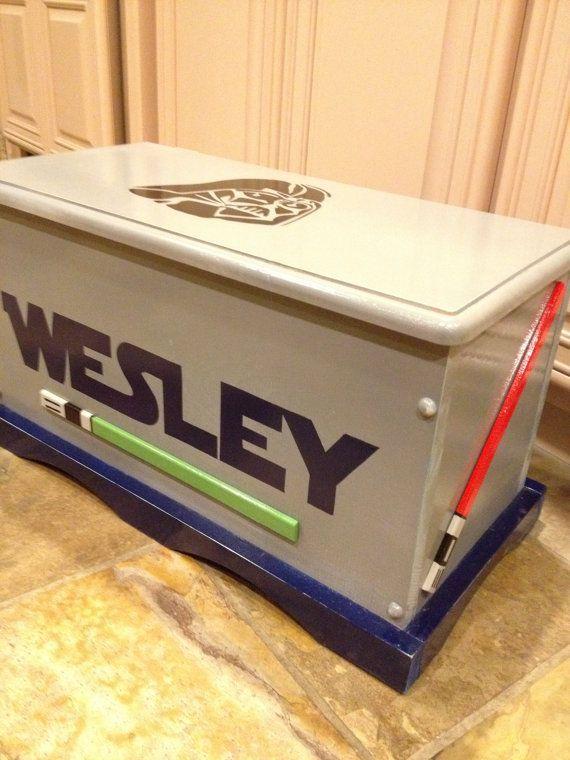 Star Wars Toy Box | Custom Personalized Star Wars Wooden Toy Box | Playroom  Organization