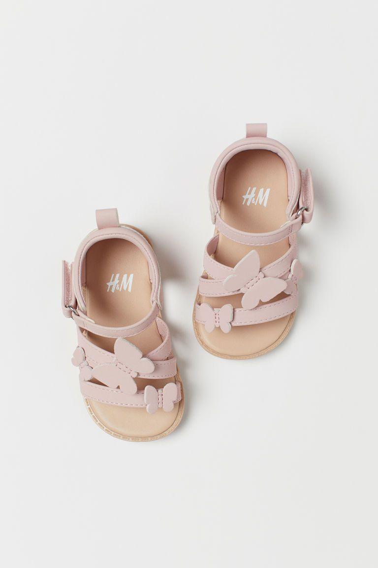 Sandales Rose poudrépapillons ENFANT | H&M BE
