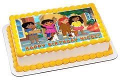 Dora and Friends 4 Edible Birthday Cake Topper OR Cupcake ...