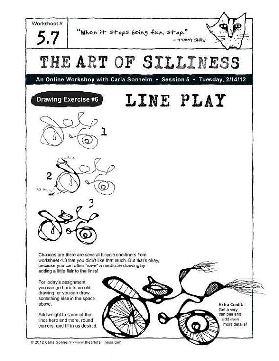 The Art Of Silliness Online Class Drawing Por Carlasonheim