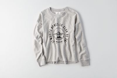 aeo easy graphic fleece sweatshirtamerican eagle
