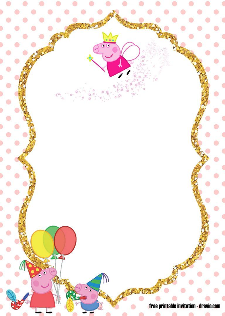 Free Printable Peppa Pig Invitation Template Peppa Pig Birthday Invitations Pig Birthday Invitations Pig Invitation