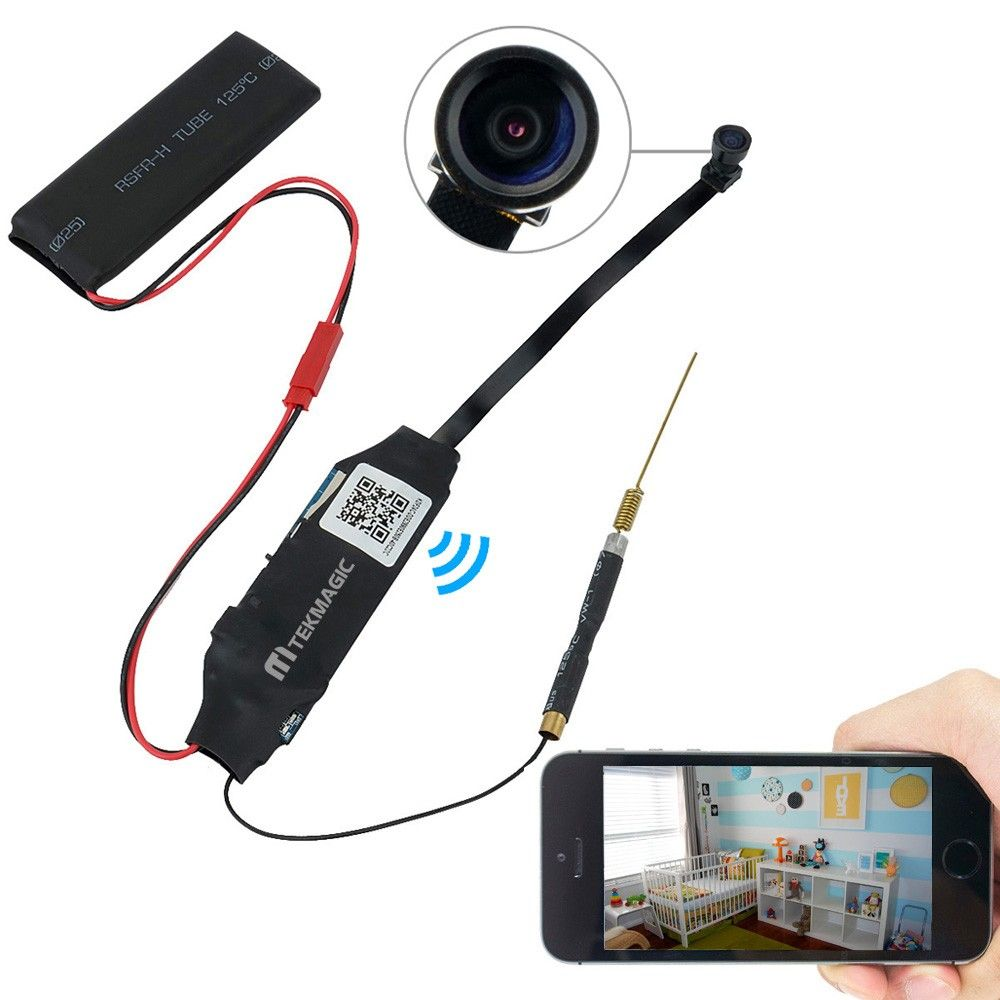 67, Wiseup 8GB Mini Wifi Network Spy Camera Module Motion