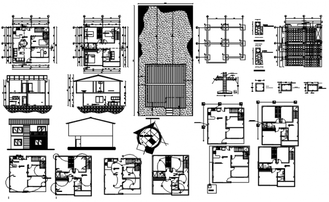 2 storey house 8.00mtr x 8.20mtr with elevation and