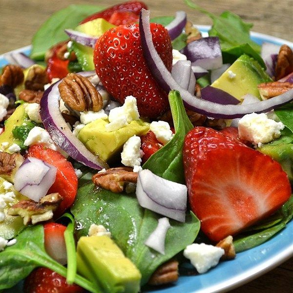 """awesome Strawberry Avocado Salad I """"This was great... the honey vinagerette is the ..."""