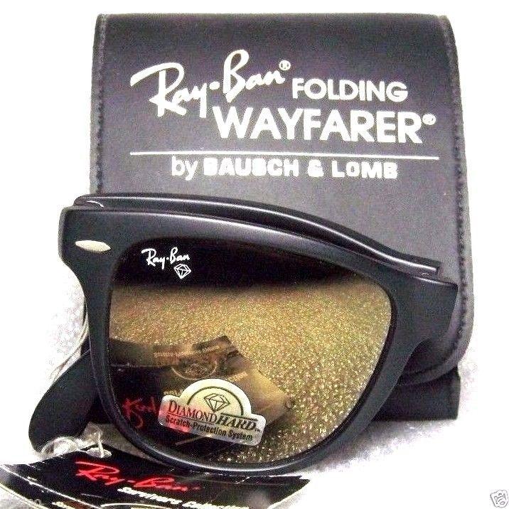 New Vintage Ray Ban B L Folding Wayfarer Ii Diamond Hard W1515 Nos Sunglasses Raybanbybauschlomb Foldingwayfar Sunglasses Vintage Sunglasses Shop Ray Bans