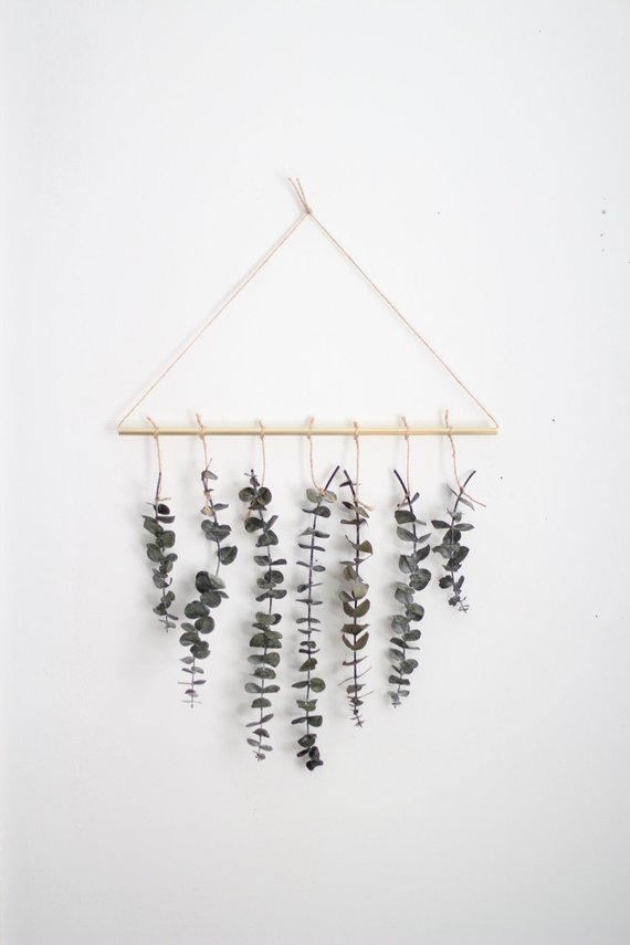Photo of Eucalyptus Wall Hanging Kit | Eucalyptus Wall Decor | Scandinavian Decor | Minimalist Decor | Holiday Decor | DIY Kit | Plant Wall Decor