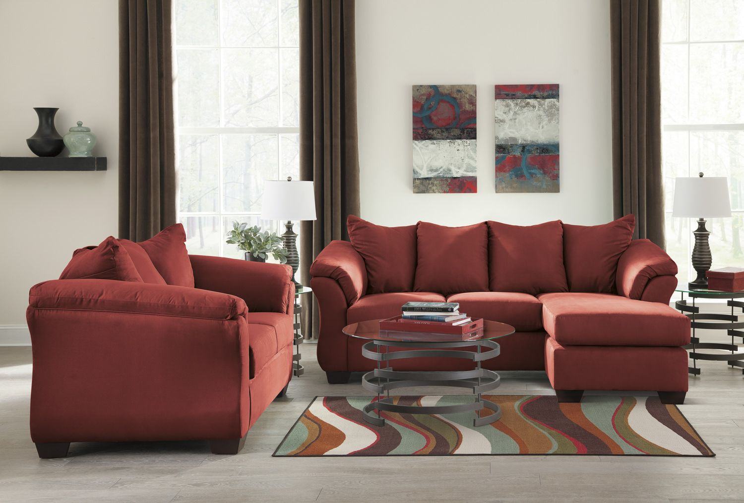 Almath Sofa With Reversible Chaise | HOM Furniture | Furniture Stores In Minneapolis  Minnesota U0026 Midwest