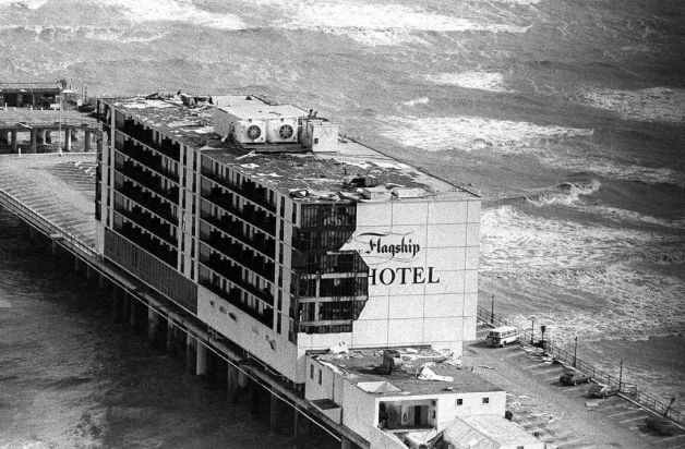 The Flagship Hotel after Hurricane Alicia nailed it but