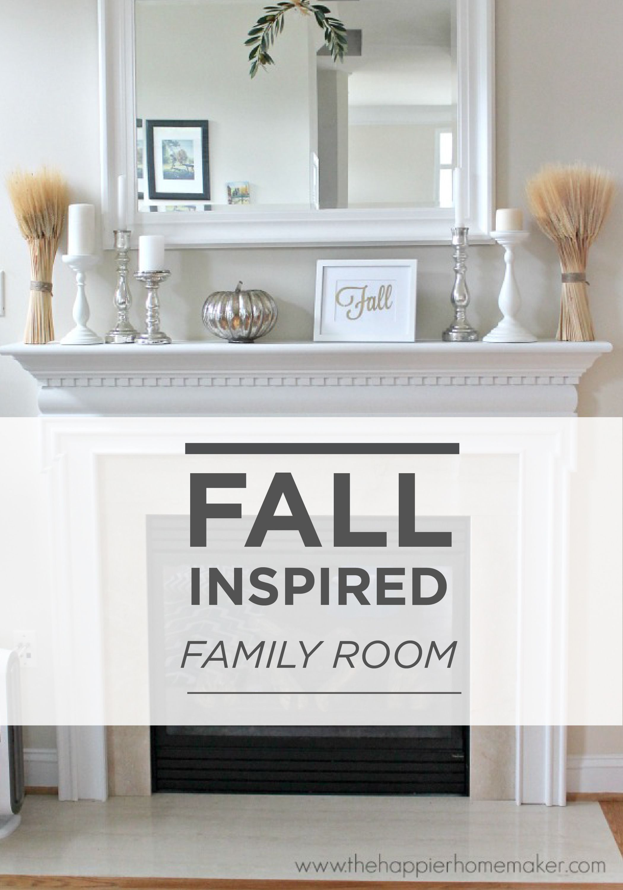 Keep Your Fall Decor Simple With A White And Silver Color Scheme Paired  With Warm, Rustic Accents. Use BEHR Paint In Alpine Frost On The Walls And  Add ...
