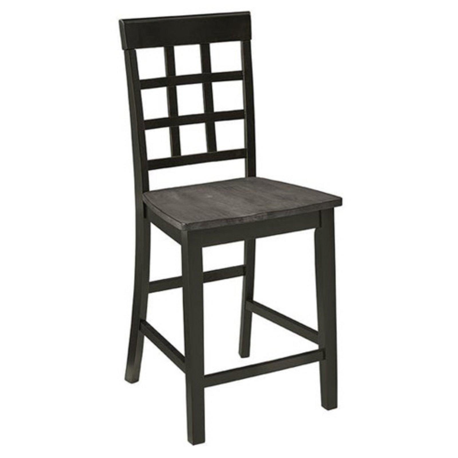 Progressive Furniture Salem 24 In Lattice Back Counter Chair