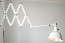 Grosse Weisse Dreifach Scherenlampe Midgard Mit Bildern Lampen Weiss Schere