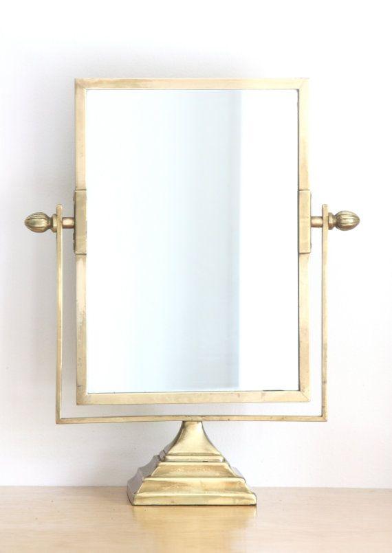vanity mirror on stand. Antique Brass Pedestal Vanity Mirror  homegoods garden decor