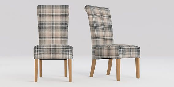 Buy Woodford Set Of 2 Versatile Check Nevis Grey From The Next Uk