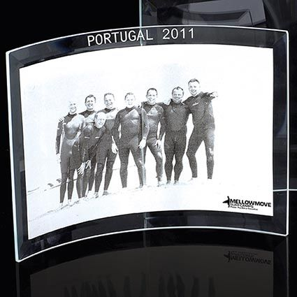 Promotional 6 X 4 Curved Glass Photo Frames That Can Be Used In