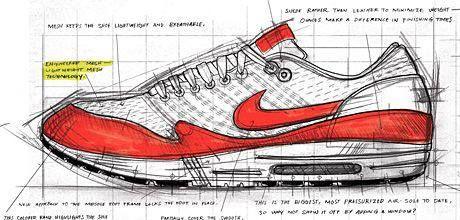 Nike Air Max One Anatomy #sneakers #sketch