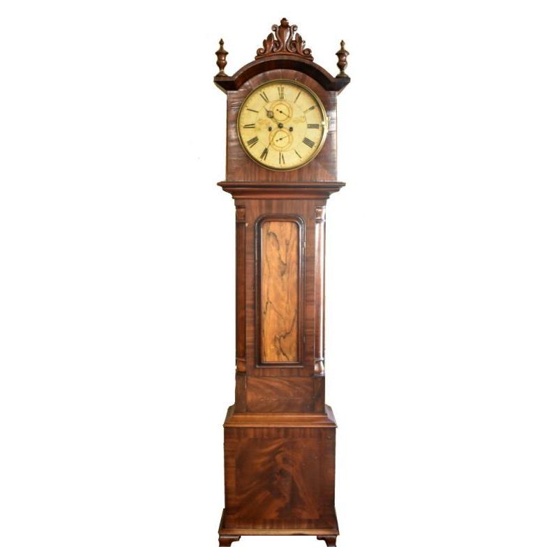 Antique Scottish Grandfather Clock Mclaren Auction Services Grandfather Clock Clock Antiques