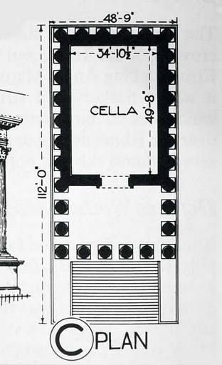 image result for maison carree floor plan arch 200. Black Bedroom Furniture Sets. Home Design Ideas