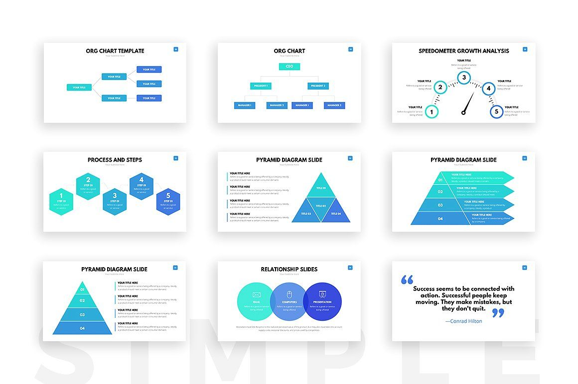 clean powerpoint templateslideforest on @creativemarket, Modern powerpoint