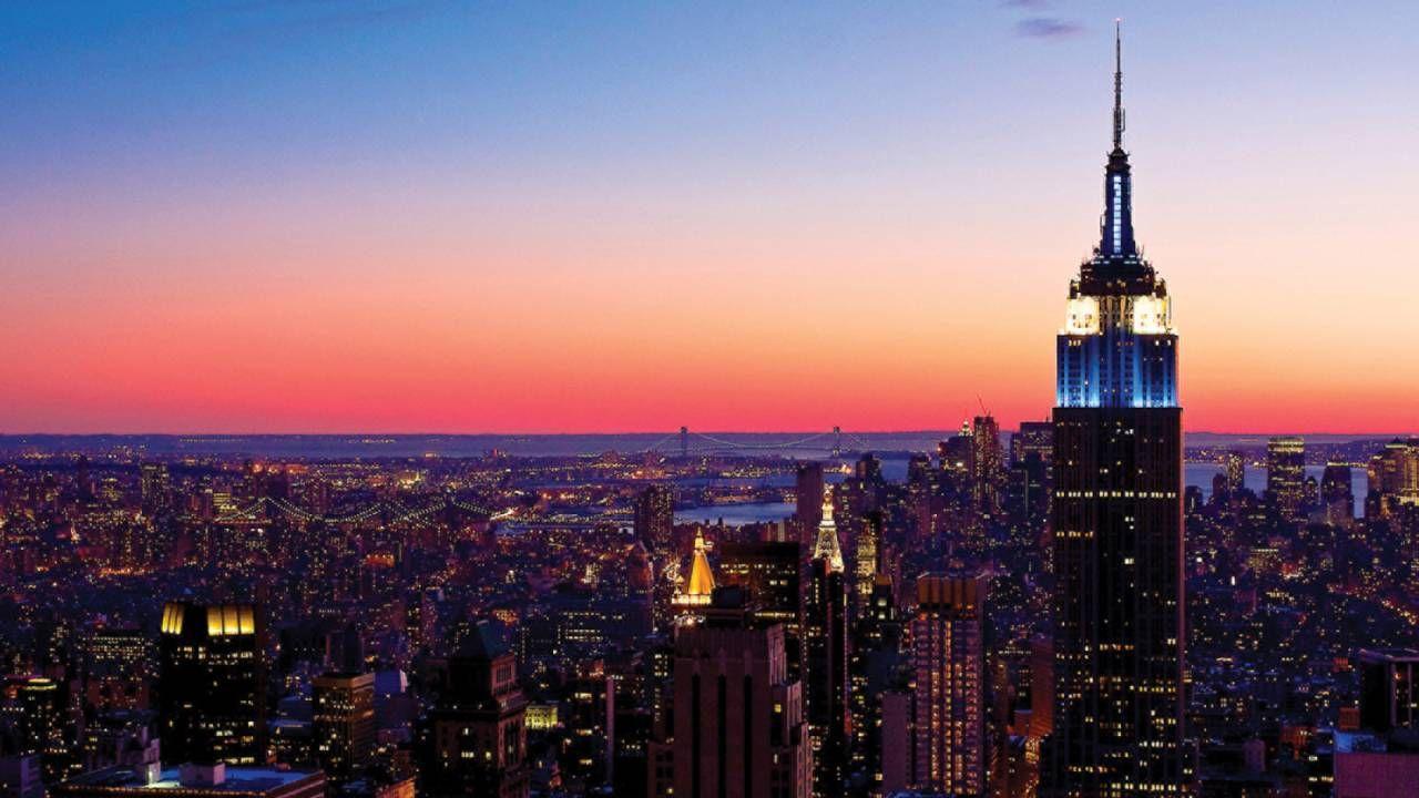 Nyc Empire State Building At Dusk New York City Honeymoon
