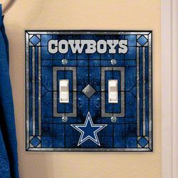 Dallas Cowboys Light Switch Cover: Double Glass $14.99 http://www.fansedge.com/Dallas-Cowboys-Light-Switch-Cover-Double-Glass-_860582341_PD.html?social=pinterest_pfid47-18981