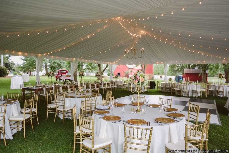 Tent Liner With String Lighting And A Shabby Chic Chandelier For Madison Ga Wedding