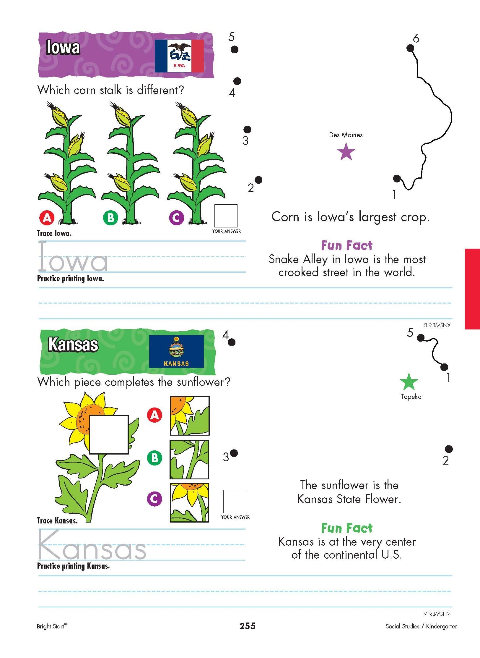 Iowa And Kansas Your Kindergartener Can Practice Writing
