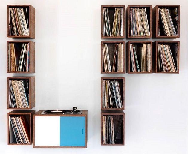 Lp kast opbergen lp pinterest kast muur en decoratie - Meubilair storage zwart ...
