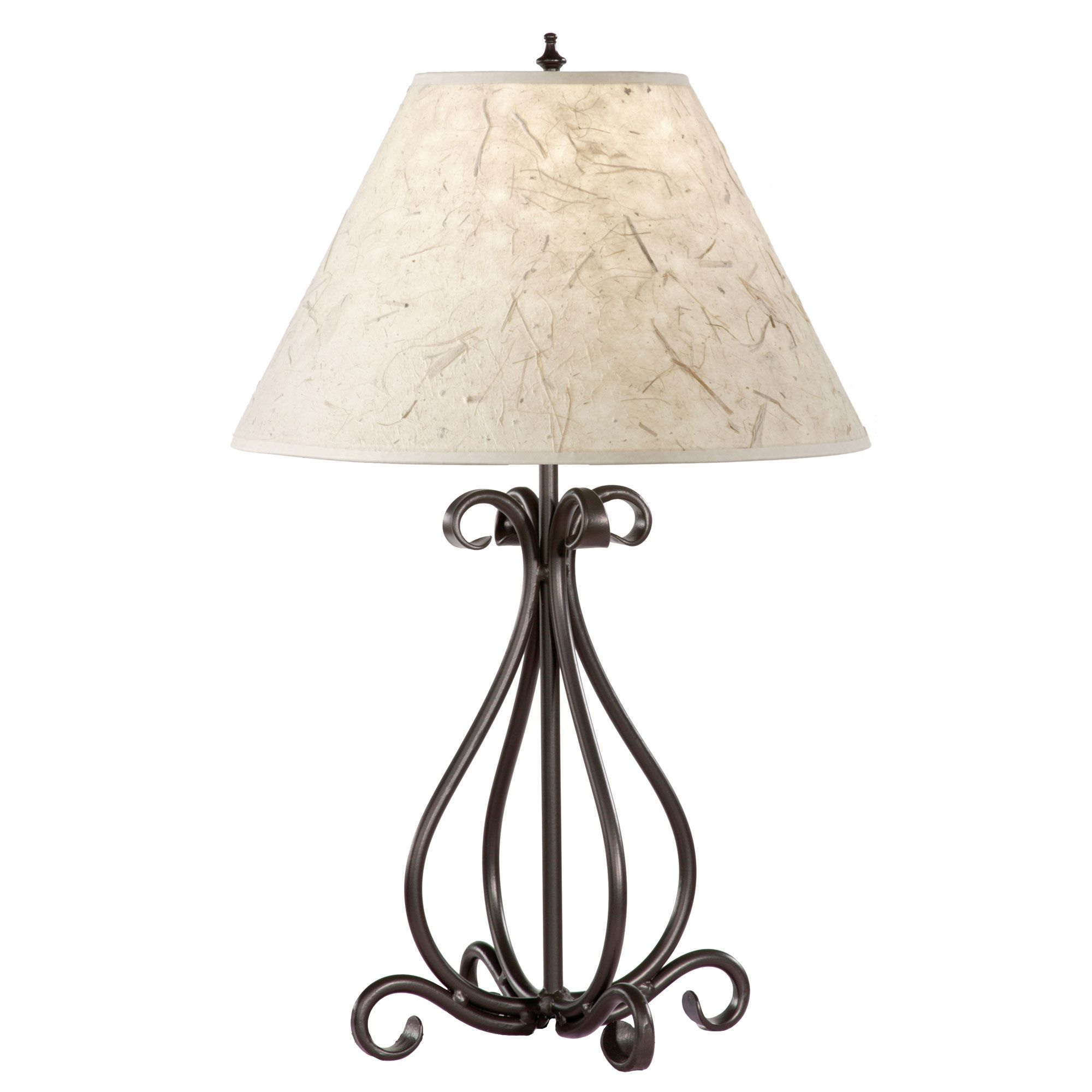 Superbe Wrought Iron Table Lamps