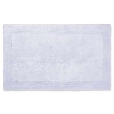 "New Wamsutta Luxury Ultra Fine Cotton Reversible Bath Rug 17/""x 24/"" in Denim Blue"