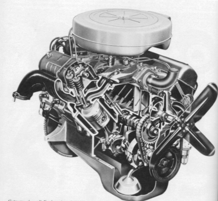 Ford Y Block Cutaway After 22 Years In Production Ford S