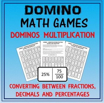 Domino Math: Converting Fractions-Decimals-Percentages & Domino ...