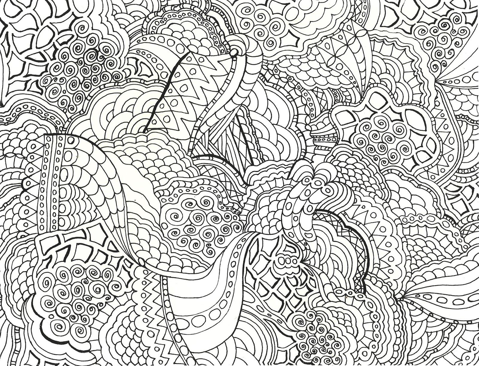 Detailed Coloring Pages for Adults coloring pages