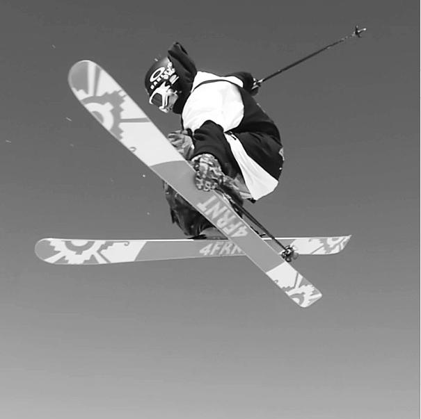 Taylor Seaton, professional freestyle skier. Skier