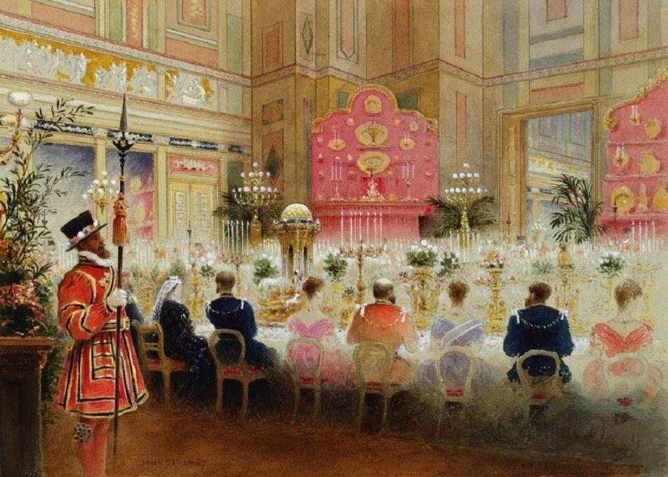 1887 : Golden Jubilee banquet at Buckingham Palace