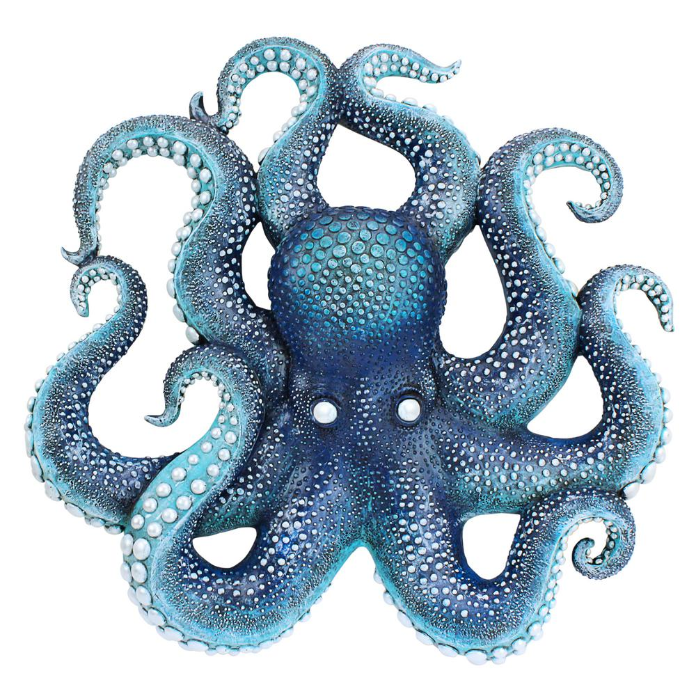 Design Toscano 15.5 in. H Deadly Blue Octopus of the Coral ...