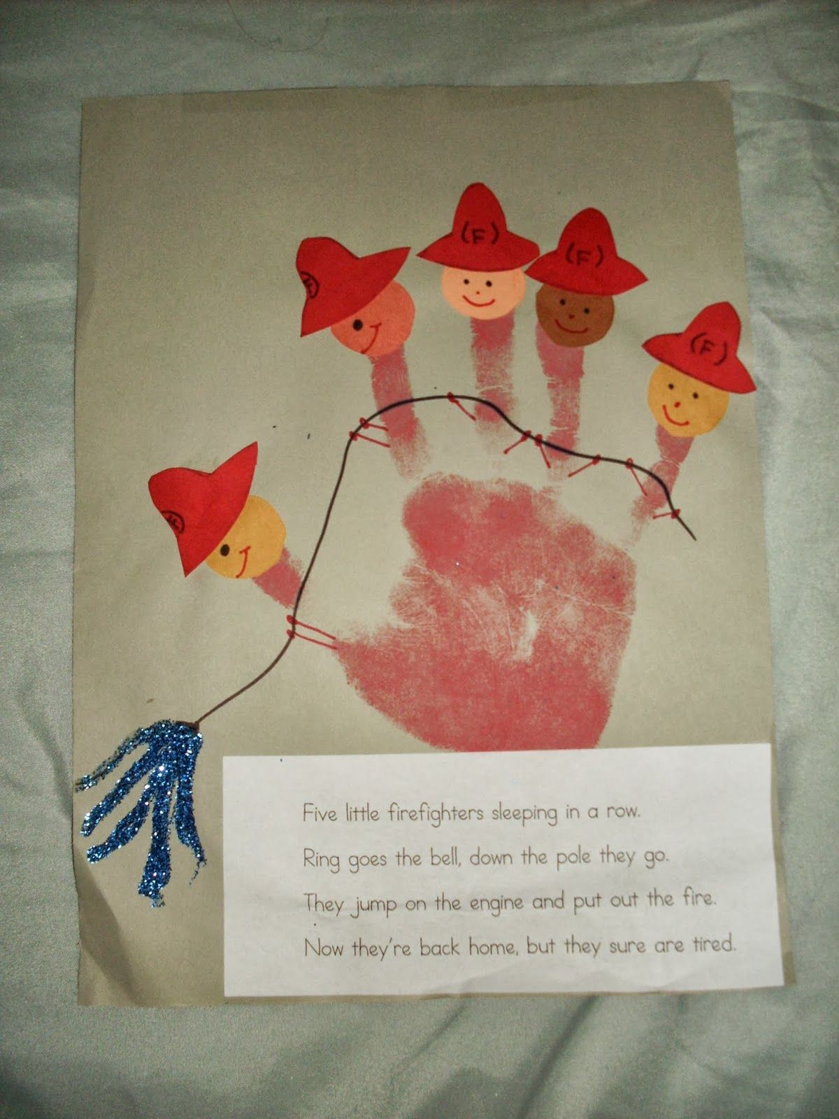 Five Little Firefighters Craft And A Freebie