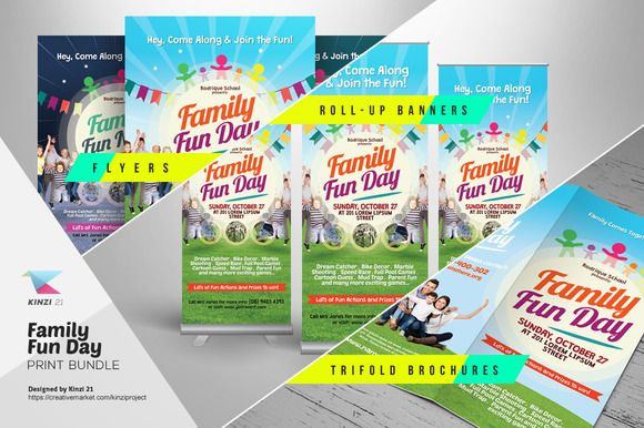 Photo Contest Flyer Templates By Kinzi On Creativemarket - Fun brochure templates