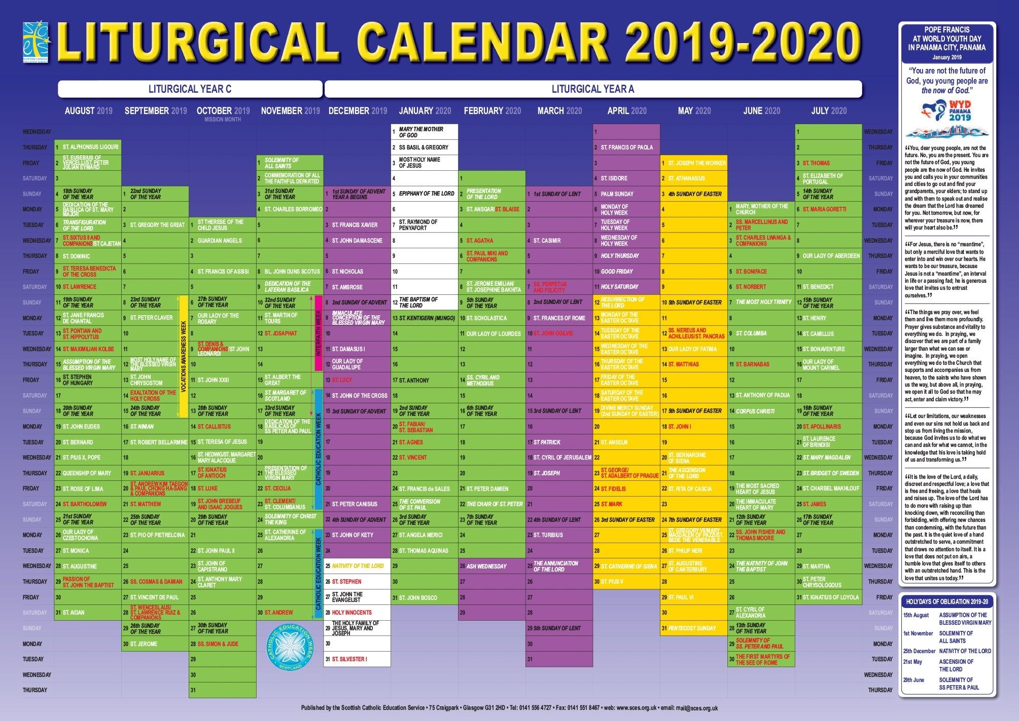 University Of Miami Spring 2022 Calendar.2020 Catholic Liturgical Calendar Colors Catholic Liturgical Calendar Calendar Printables Calendar