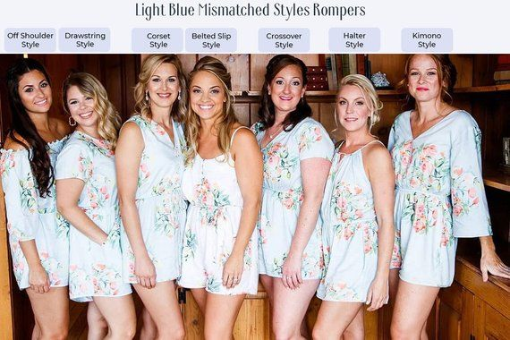 1d03b2e25147 Navy Blue Mismatched Rompers By Silkandmore - Bridesmaids Gifts ...