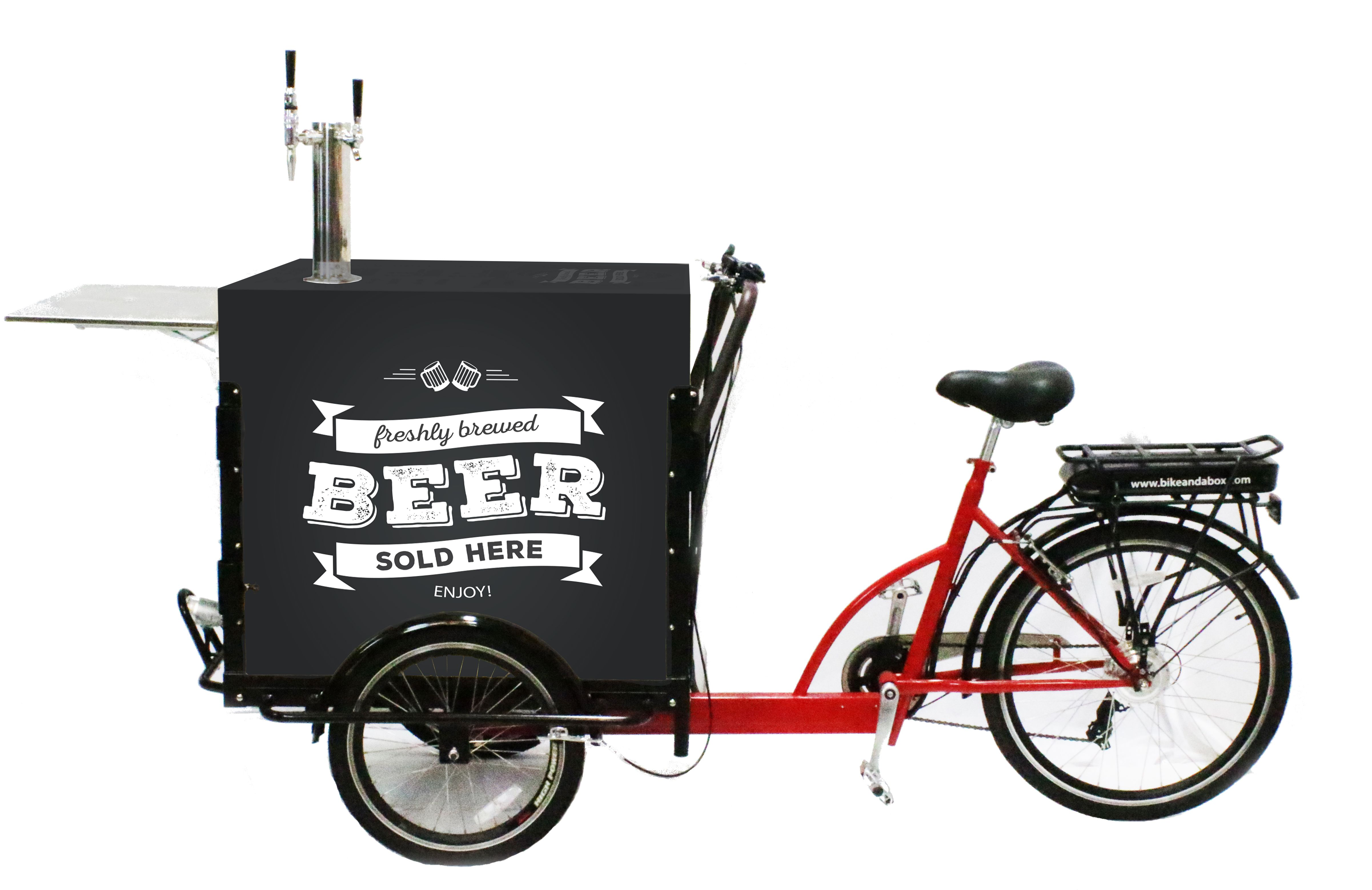 Tap Bike From Bike And A Box For Selling Beer Wine Coffee And More