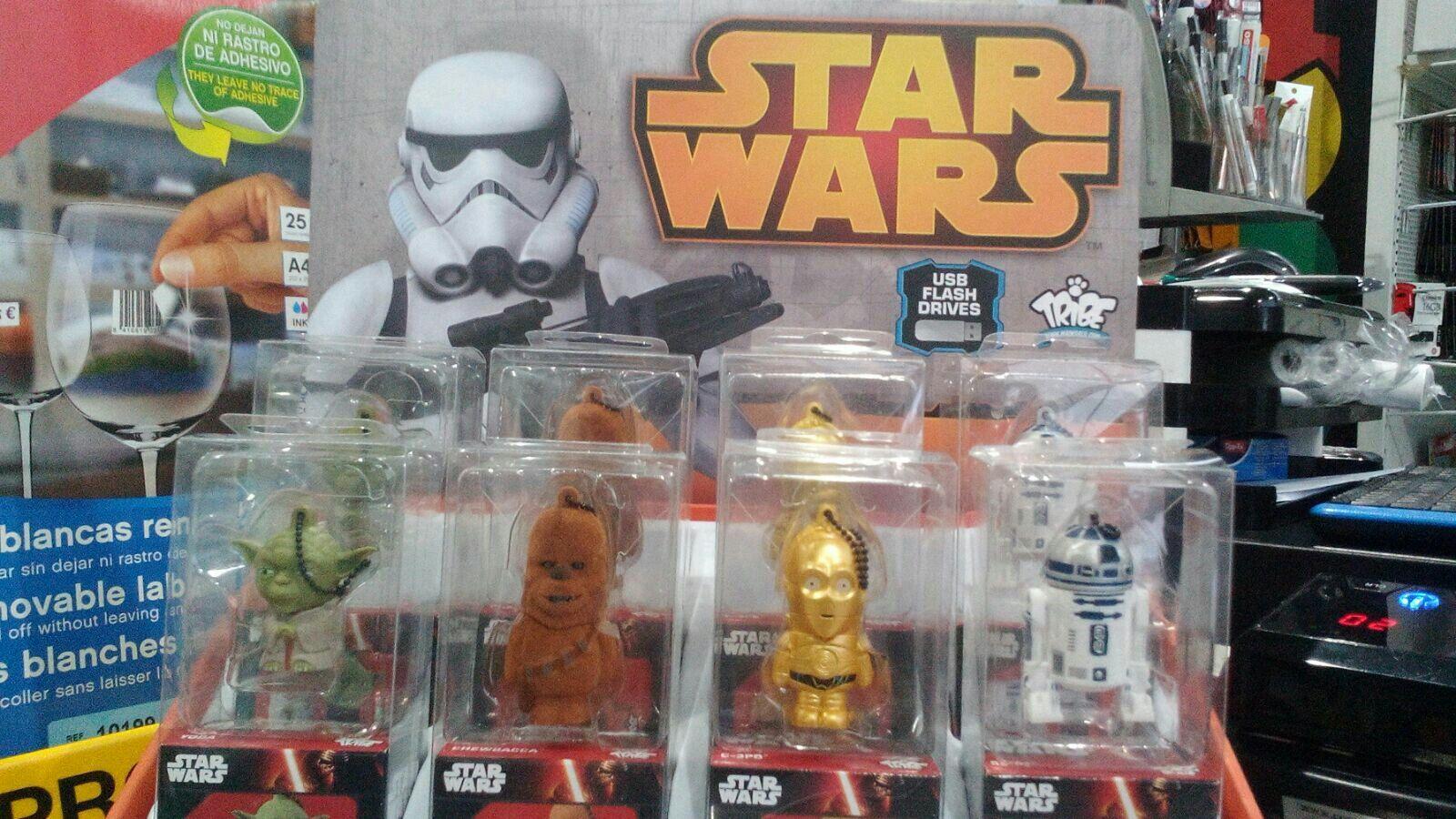 Pendriver 16 Gigas Guerra de las Galaxias Star Wars-19,95€-Mendopapeleria-12-16