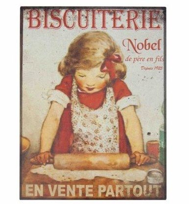 plaque publicitaire biscuiterie nobel d co r tro campagne vintage industrielle pinterest. Black Bedroom Furniture Sets. Home Design Ideas