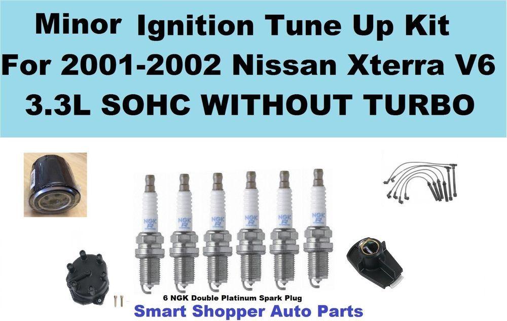 Tune Up Kit For Nissan Xterra V6 3.3L W/OTurbo Spark Plug Dis Cap ...